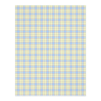 Colorful Plaid Faded Background Paper Customized Letterhead