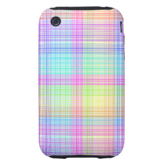 Colorful Plaid Pattern iPhone 3 Tough Covers
