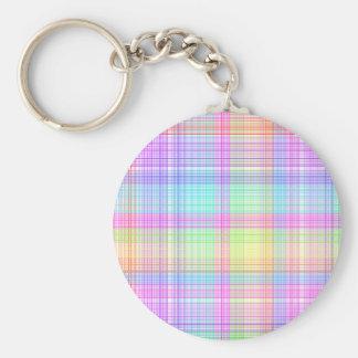 Colorful Plaid Pattern Keychain