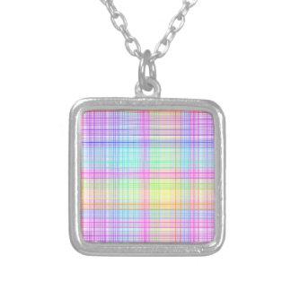 Colorful Plaid Pattern Necklace