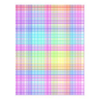 Colorful Plaid Pattern Postcard