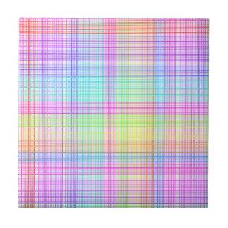 Colorful Plaid Pattern Tile