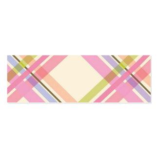 Colorful Plaid Profile Card