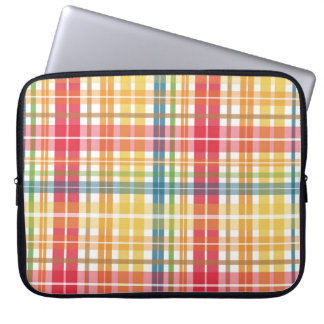 Colorful Plaid Stripe Laptop Sleeve