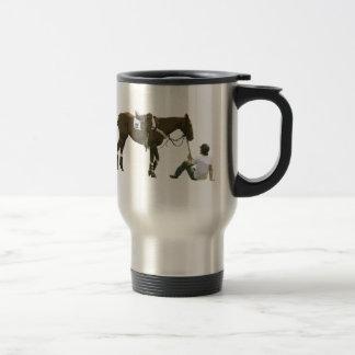 Colorful Plain Resting Horse Travel Mug