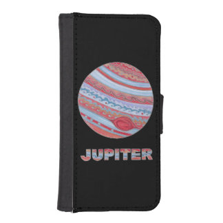 Colorful Planet Jupiter Space Geek Phone Wallet