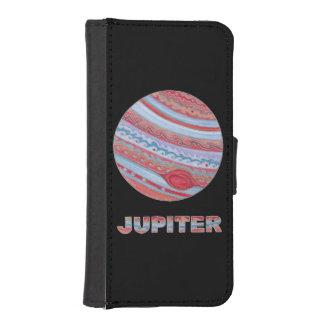 Colorful Planet Jupiter Space Geek Phone Wallet