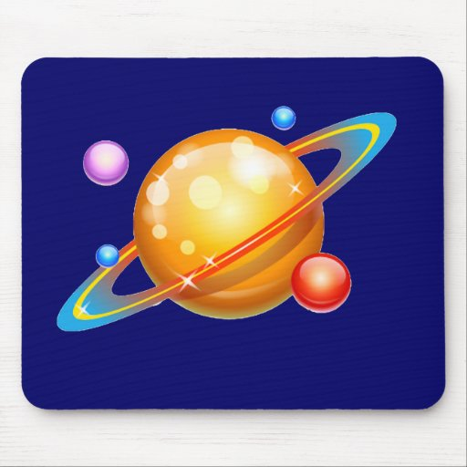Colorful Planets Mouse Pad