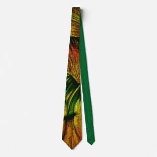 colorful plant design original abstract quirky art neck tie