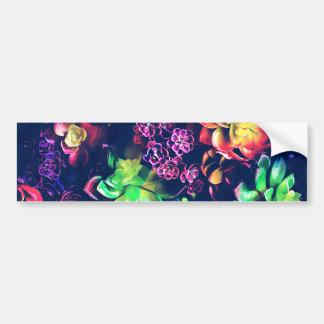 Colorful Plants Bumper Sticker