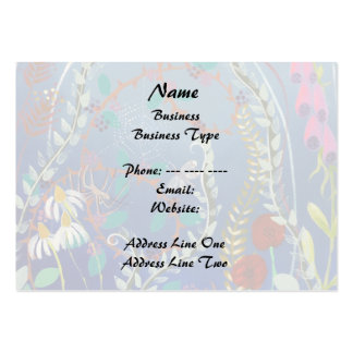 Colorful Plants. Large Business Cards (Pack Of 100)