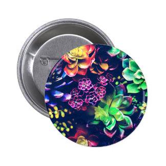 Colorful Plants Button