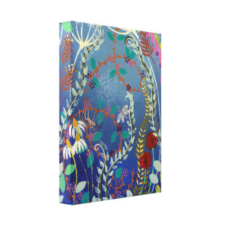 Colorful Plants. Gallery Wrap Canvas