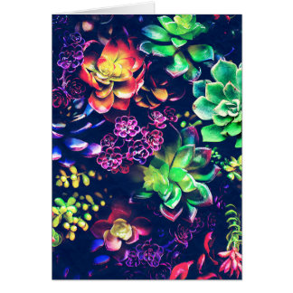 Colorful Plants Card