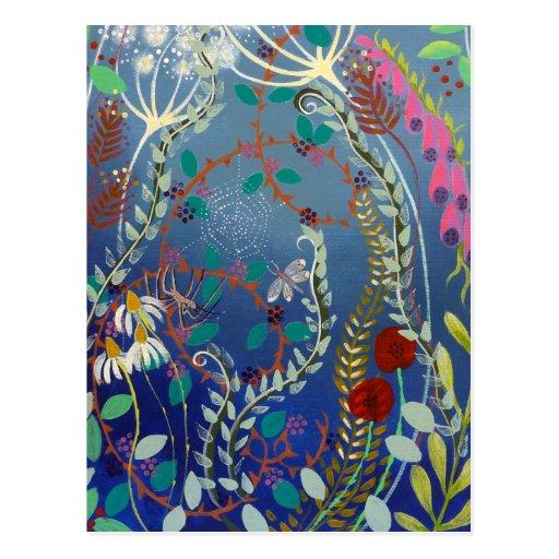 Colorful Plants. Postcard