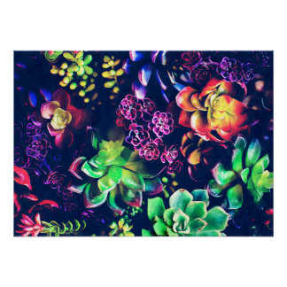 Colorful Plants Poster