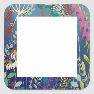 Colorful Plants. Square Sticker