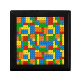 colorful plastic blocks keepsake box