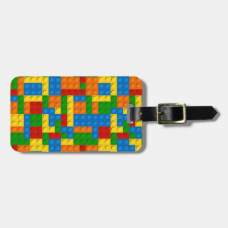 colorful plastic blocks luggage tag