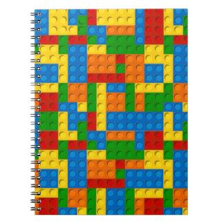 colorful plastic blocks notebook