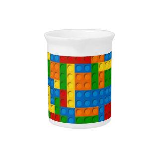colorful plastic blocks pitcher