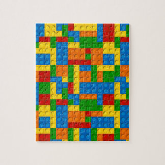 colorful plastic blocks puzzle