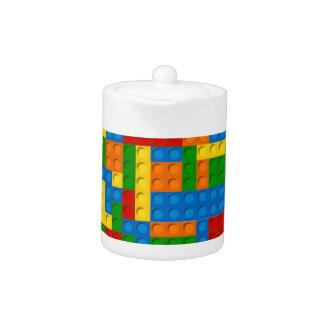 colorful plastic blocks teapot