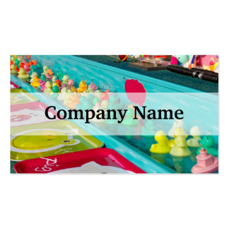 Colorful Plastic Fair Ducks Game Business Cards