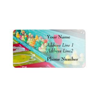 Colorful Plastic Fair Ducks Game Label