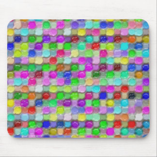 colorful plastic wax pattern mouse pad