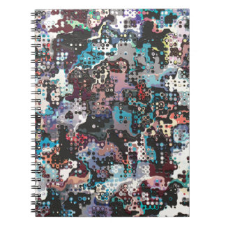 Colorful Plastics Abstract Note Book