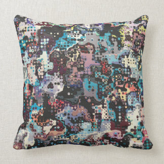 Colorful Plastics Abstract Throw Pillow