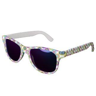 Colorful plate pattern sunglasses