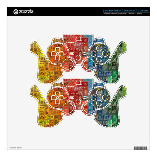 Colorful Plates from All 50 States PS3 Controller Decal