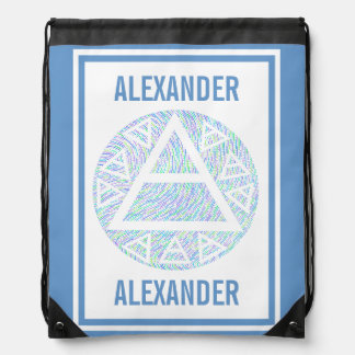 Colorful Plato's Air Sign New Age Triad Symbol Backpack