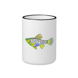 Colorful Platy Fish Ringer Coffee Mug