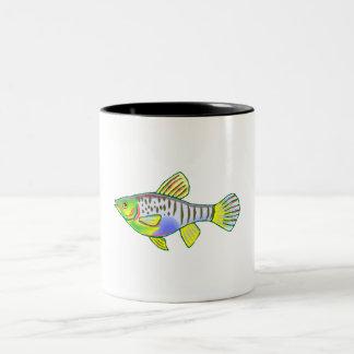 Colorful Platy Fish Two-Tone Coffee Mug