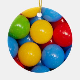 Colorful Playground Balls Ceramic Ornament