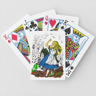 Colorful Playing Cards Attack Alice in Wonderland