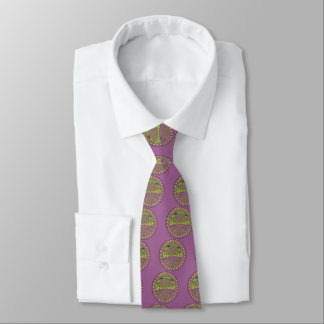 Colorful Plum Yellow lace decorative ethnic patter Tie