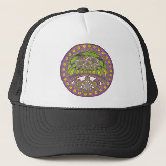 Colorful Plum Yellow lace decorative ethnic patter Trucker Hat