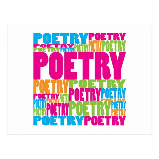Colorful Poetry Postcard