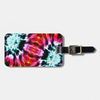 Colorful Poinsettia Abstract Bag Tag