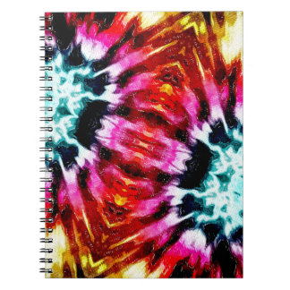 Colorful Poinsettia Abstract Note Books
