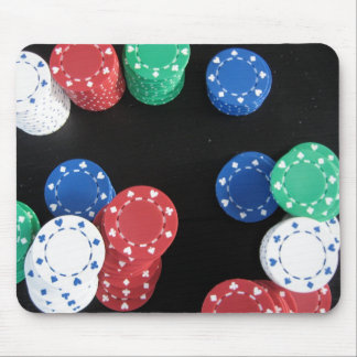colorful poker chips mouse pad