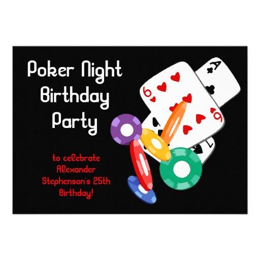 Poker invitations free