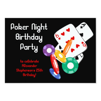 Colorful Poker Chips Party Invitation