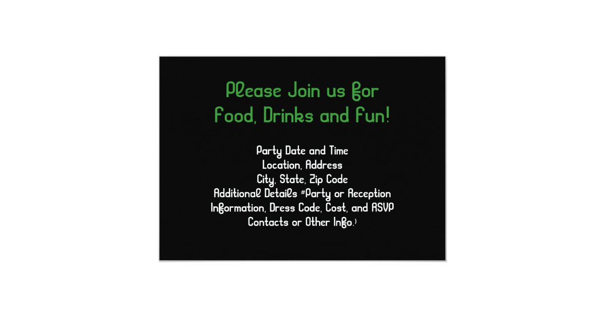 Poker chip party invitations - Route 66 casino restaurant menu