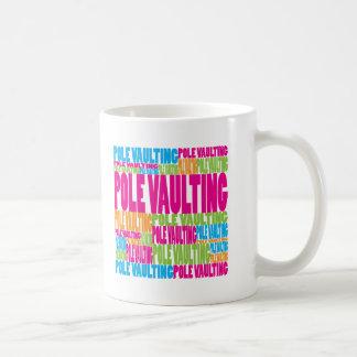Colorful Pole Vaulting Coffee Mug