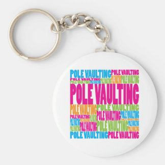 Colorful Pole Vaulting Key Chains